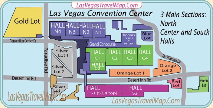 Las Vegas Convention Center Map The Las Vegas Convention Center